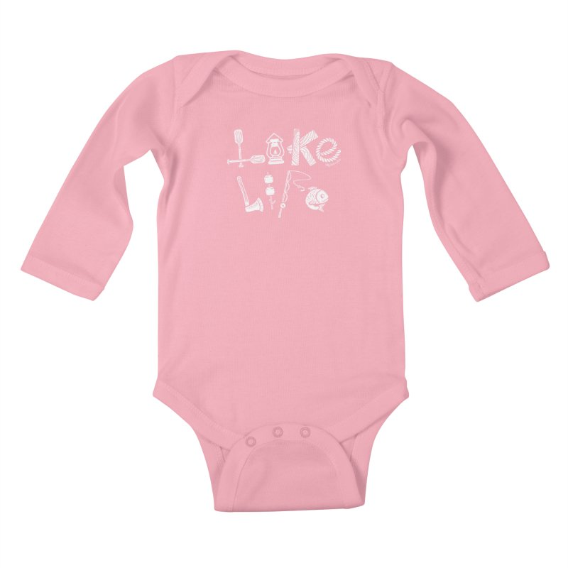 Lake Life - Icons Kids Baby Longsleeve Bodysuit by My Nature Side