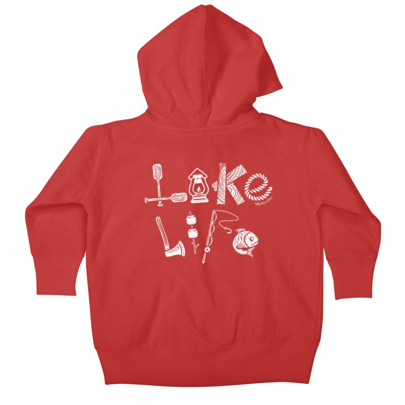 Lake Life - Icons Kids Baby Zip-Up Hoody by My Nature Side