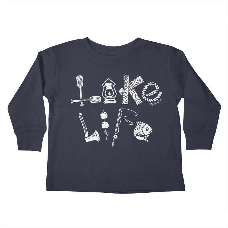 Lake Life - Icons Kids Toddler Longsleeve T-Shirt by My Nature Side