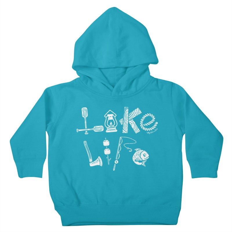 Lake Life - Icons Kids Toddler Pullover Hoody by My Nature Side