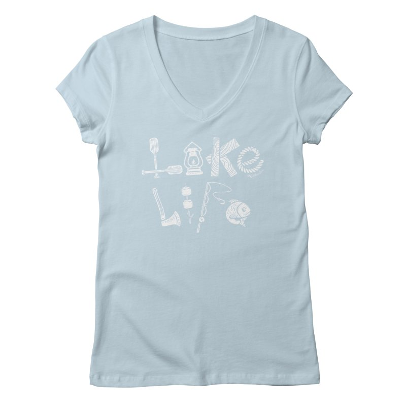 Lake Life - Icons Women's Regular V-Neck by My Nature Side