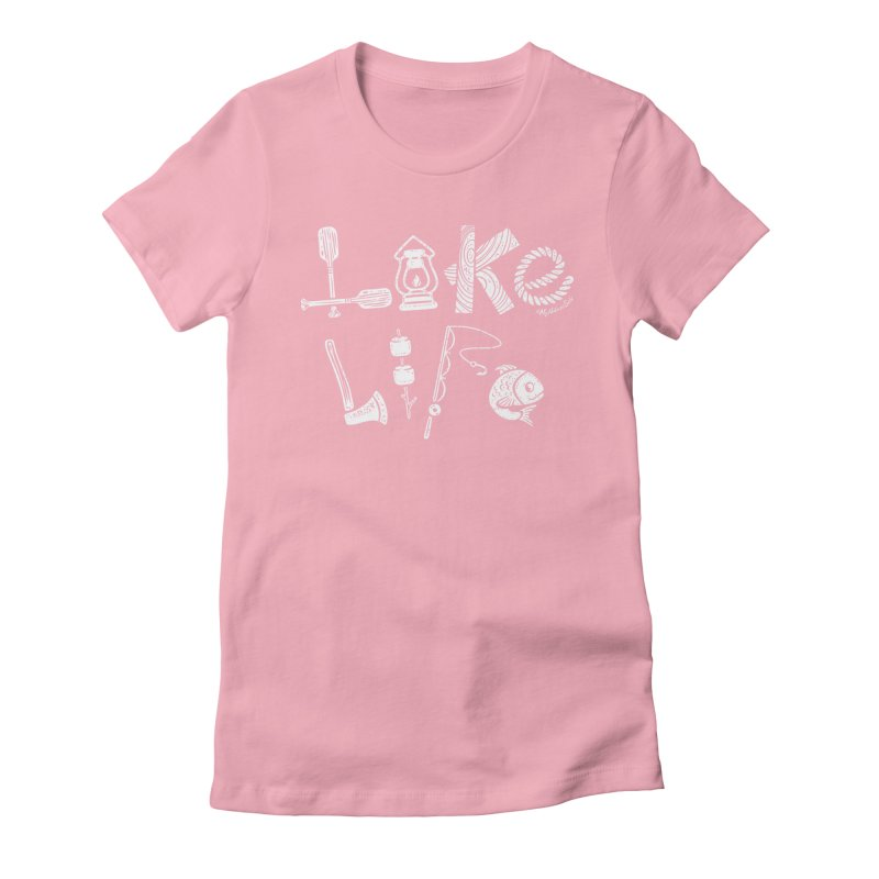Lake Life - Icons Women's Fitted T-Shirt by My Nature Side