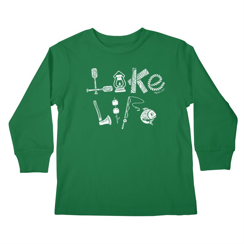 Lake Life - Icons Kids Longsleeve T-Shirt by My Nature Side