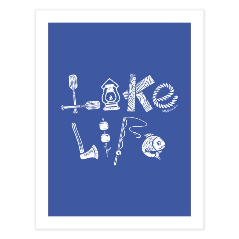 Lake Life - Icons Home Fine Art Print by My Nature Side