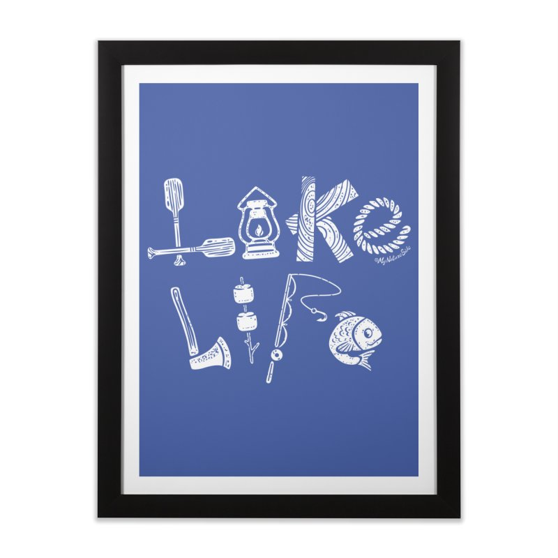 Lake Life - Icons Home Framed Fine Art Print by My Nature Side