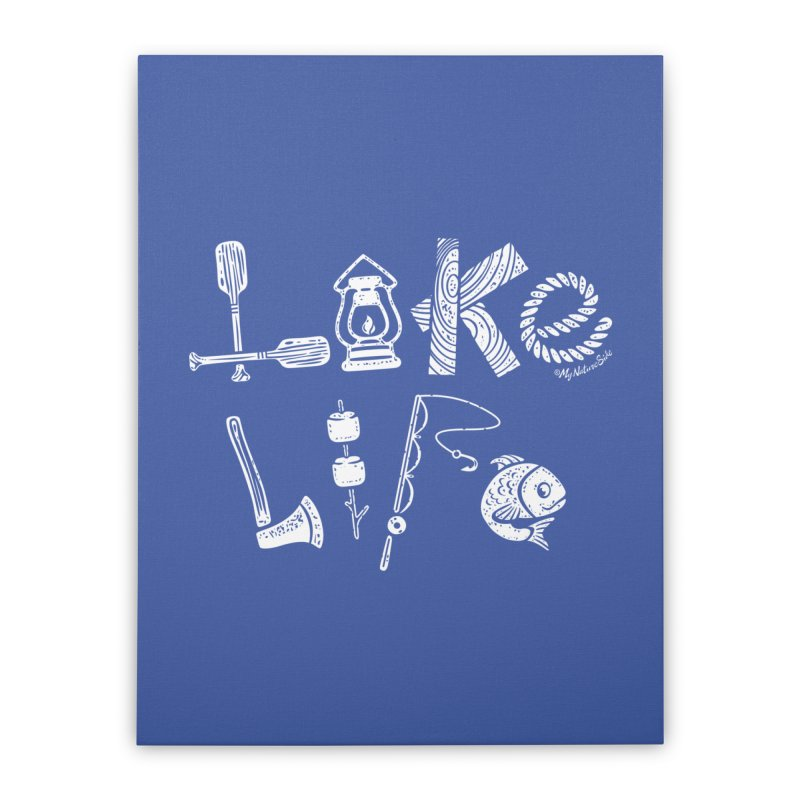 Lake Life - Icons Home Stretched Canvas by My Nature Side