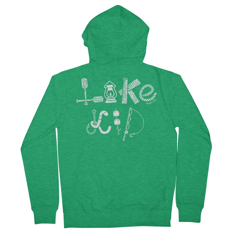 Lake Kid - Icons Men's Zip-Up Hoody by My Nature Side