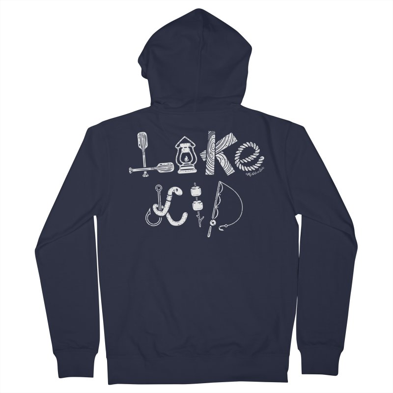 Lake Kid - Icons Men's French Terry Zip-Up Hoody by My Nature Side