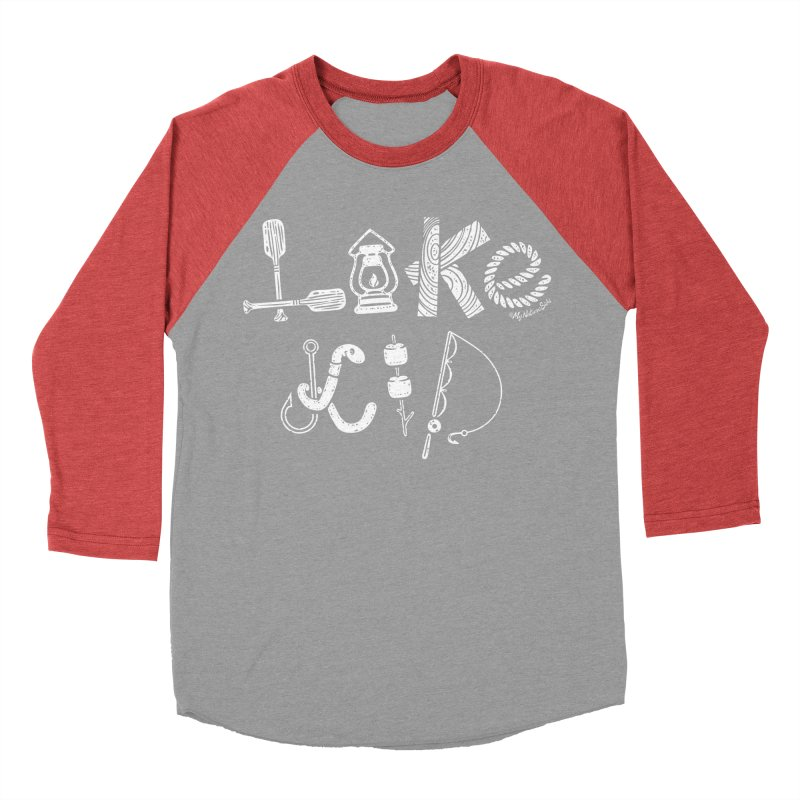 Lake Kid - Icons Men's Baseball Triblend Longsleeve T-Shirt by My Nature Side
