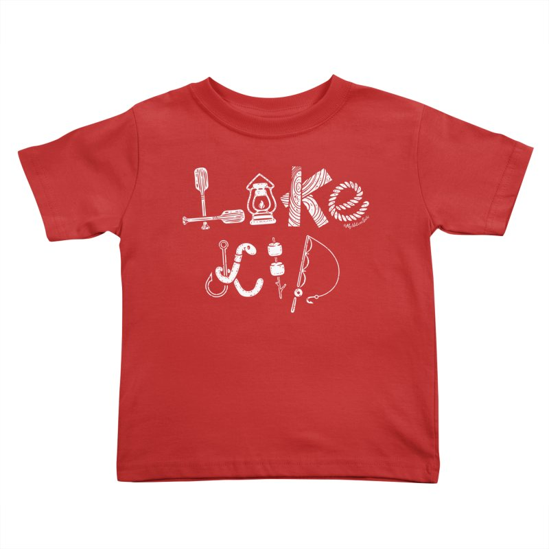 Lake Kid - Icons Kids Toddler T-Shirt by My Nature Side