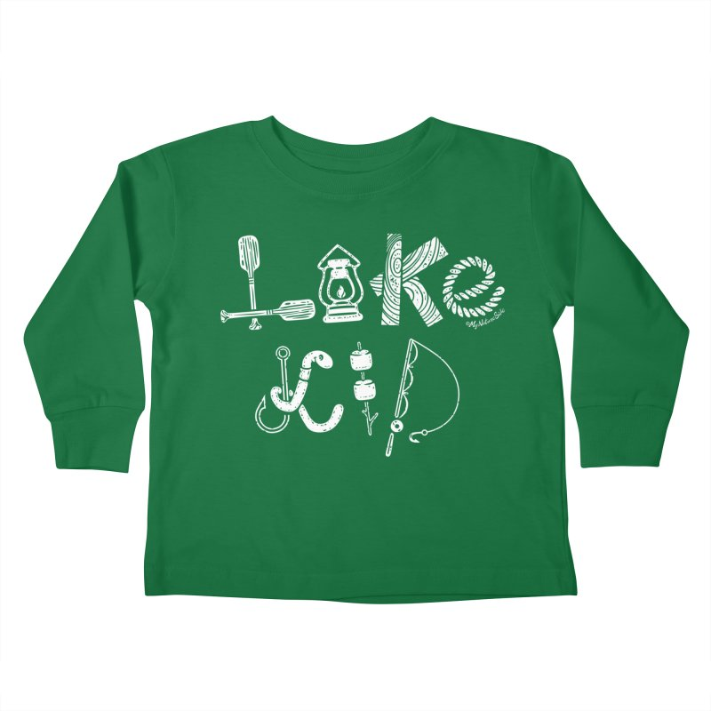 Lake Kid - Icons Kids Toddler Longsleeve T-Shirt by My Nature Side