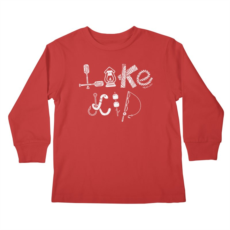 Lake Kid - Icons Kids Longsleeve T-Shirt by My Nature Side