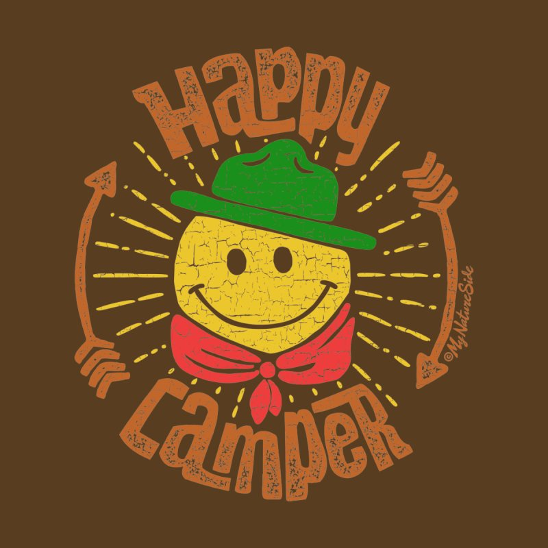 Happy Camper Men's Pullover Hoody by My Nature Side