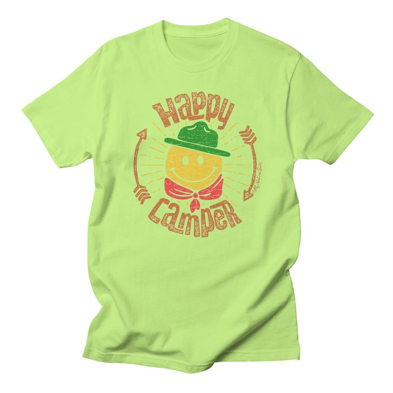 Happy Camper Men's Regular T-Shirt by My Nature Side