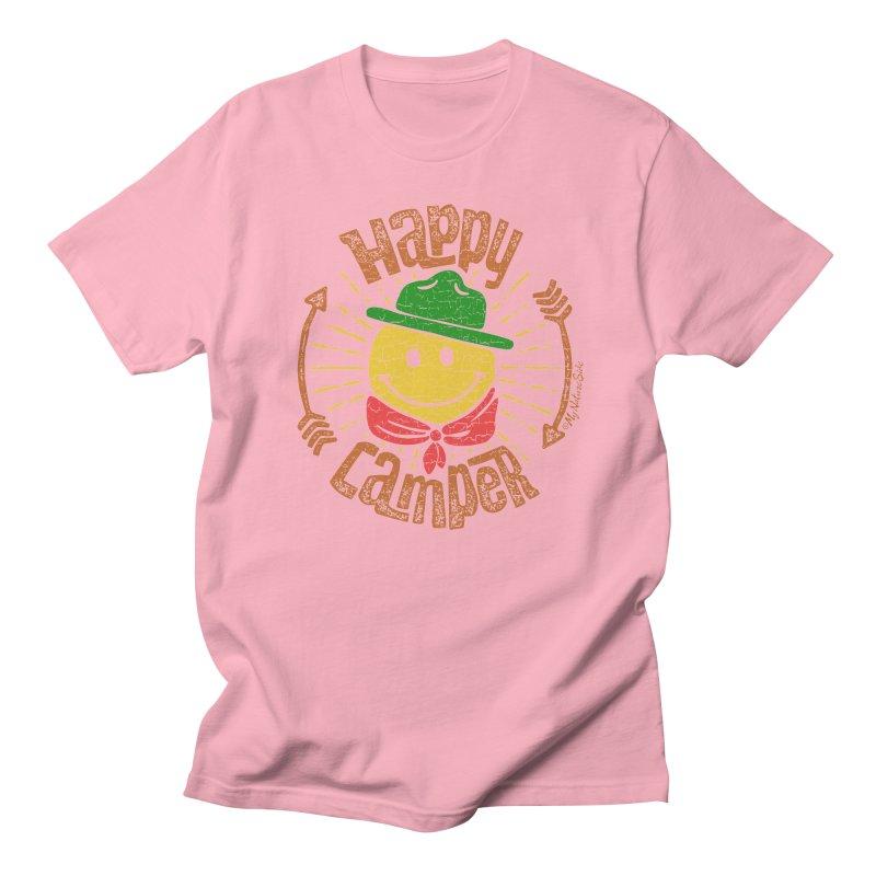 Happy Camper Men's Regular T-Shirt by My Nature Side