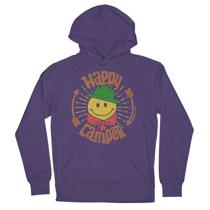 Happy Camper Men's French Terry Pullover Hoody by My Nature Side