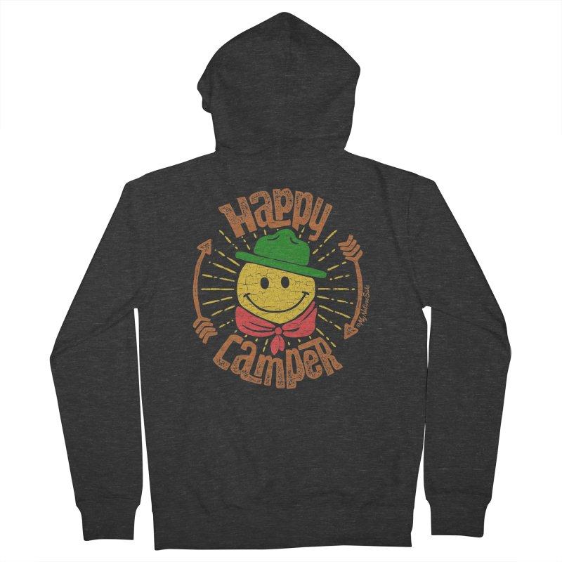 Happy Camper Men's Zip-Up Hoody by My Nature Side