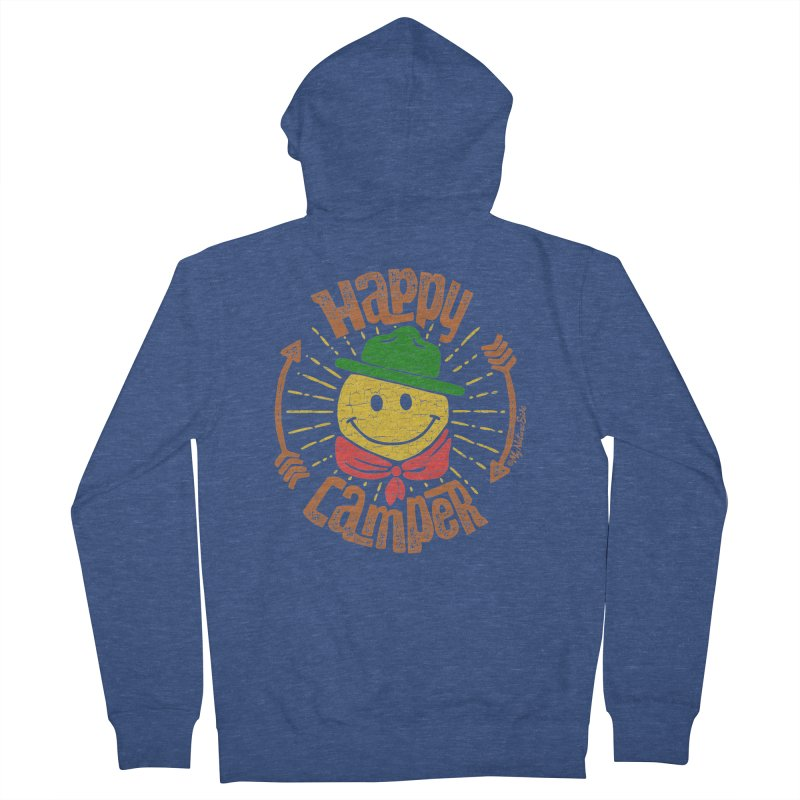 Happy Camper Men's French Terry Zip-Up Hoody by My Nature Side