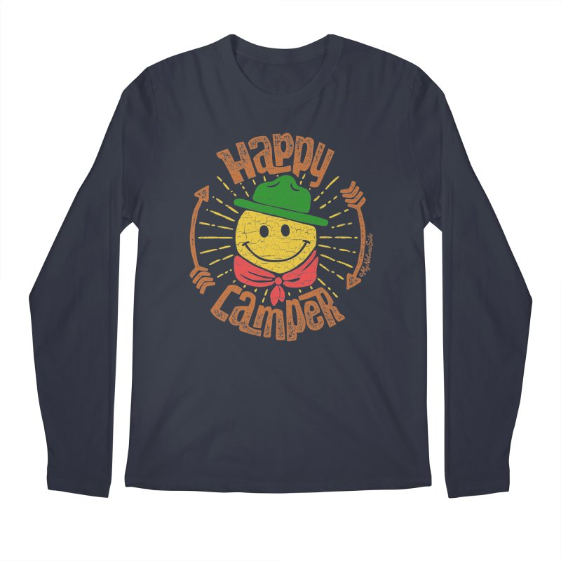 Happy Camper Men's Longsleeve T-Shirt by My Nature Side
