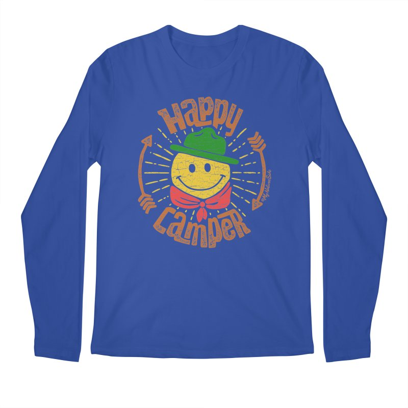Happy Camper Men's Regular Longsleeve T-Shirt by My Nature Side