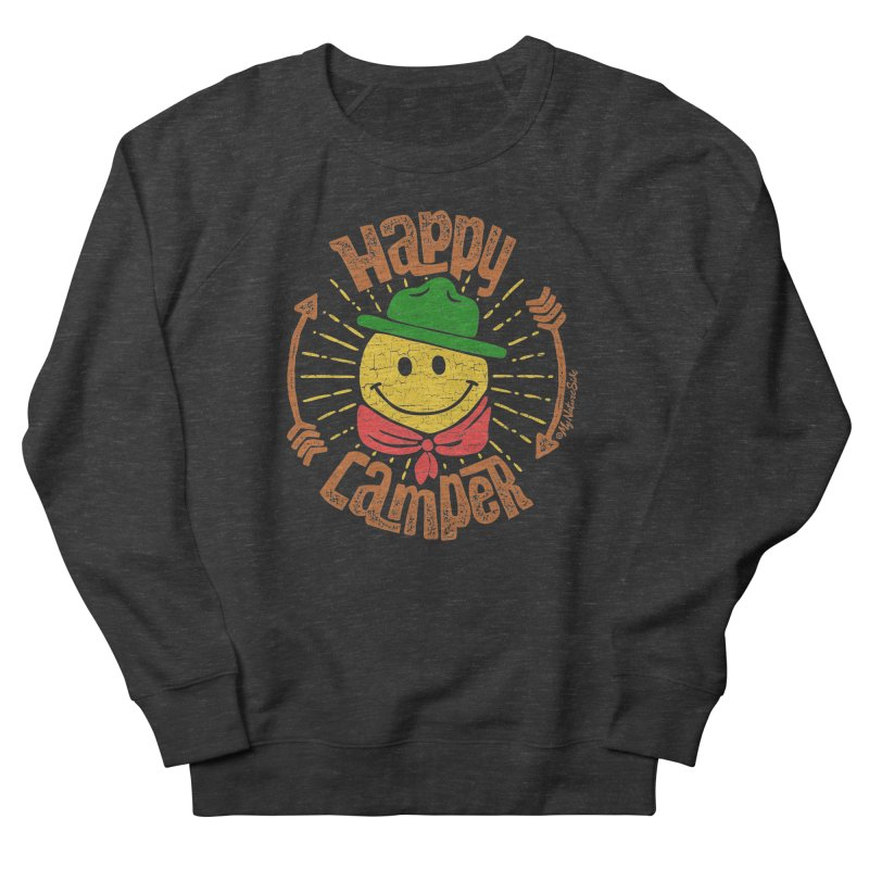 Happy Camper Women's French Terry Sweatshirt by My Nature Side