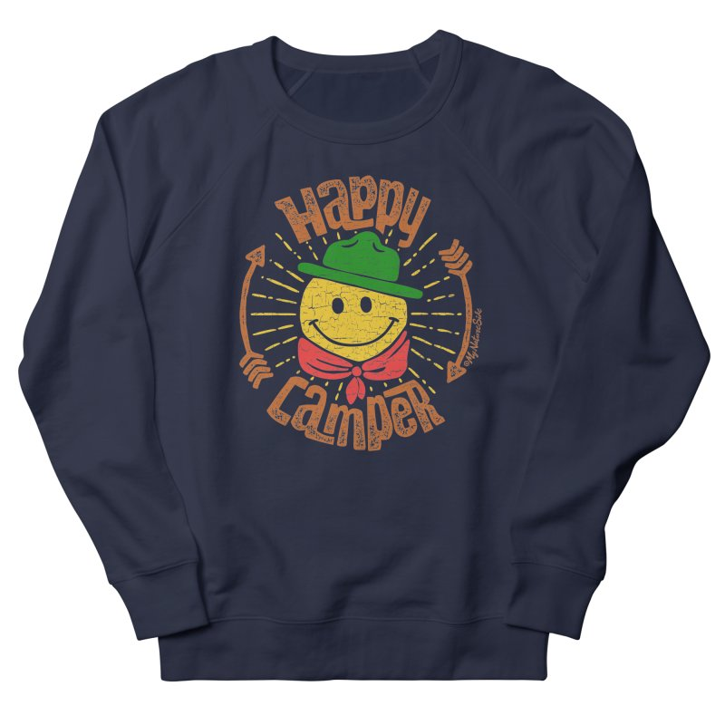 Happy Camper Men's French Terry Sweatshirt by My Nature Side