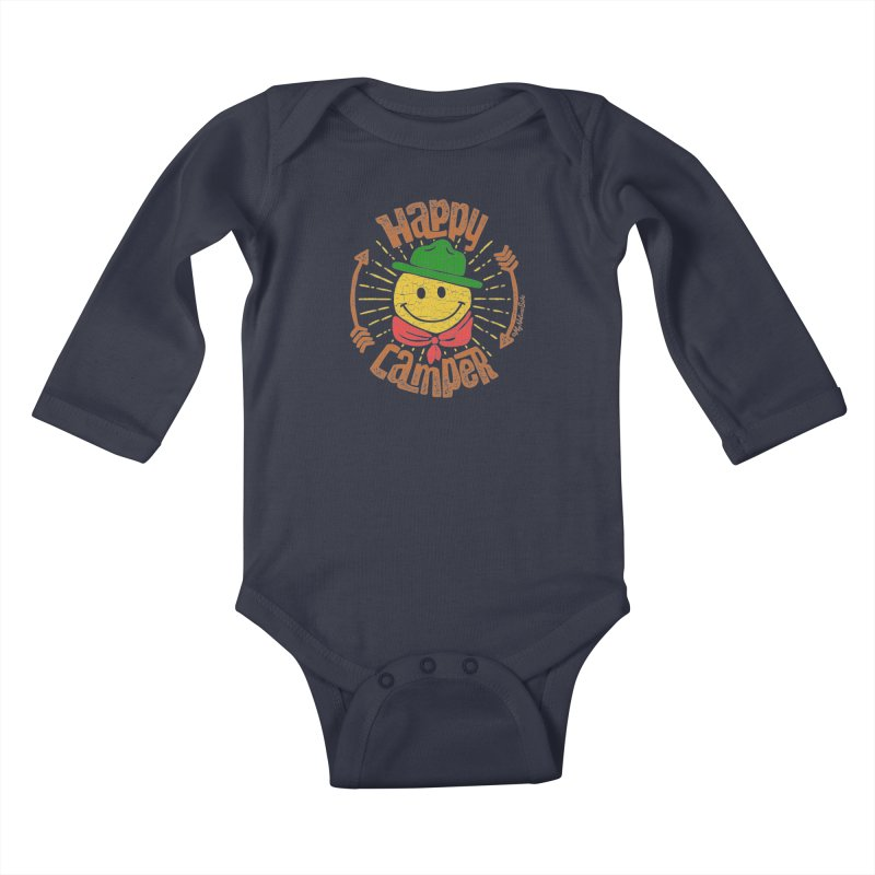 Happy Camper Kids Baby Longsleeve Bodysuit by My Nature Side