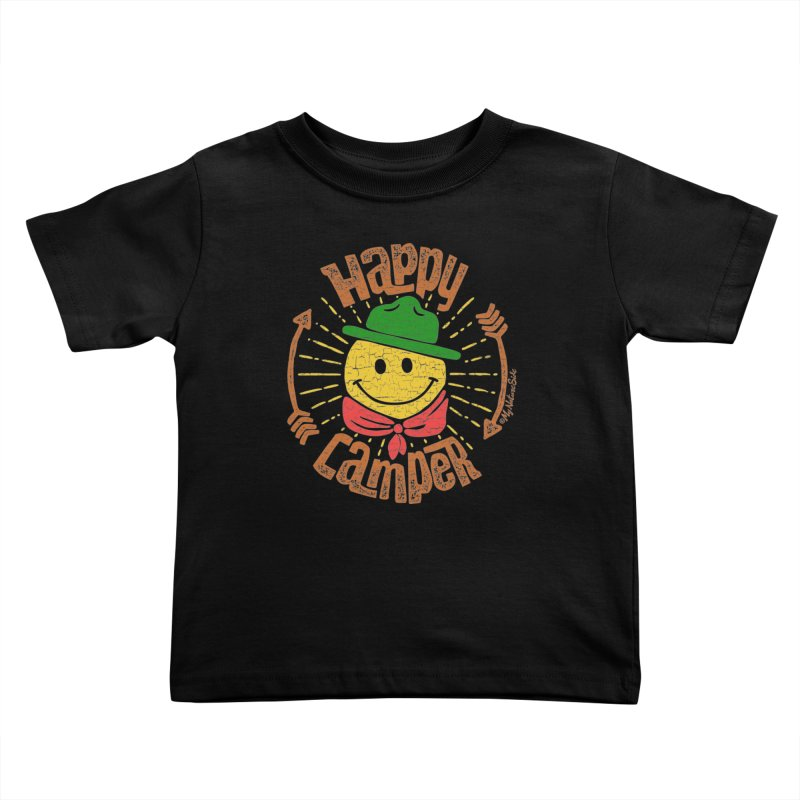 Happy Camper Kids Toddler T-Shirt by My Nature Side