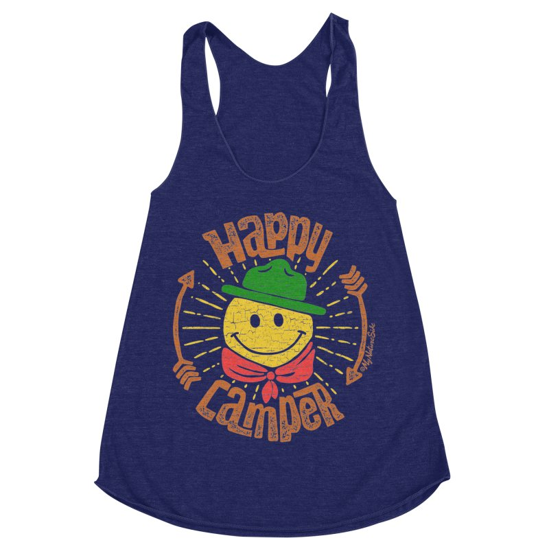 Happy Camper Women's Racerback Triblend Tank by My Nature Side