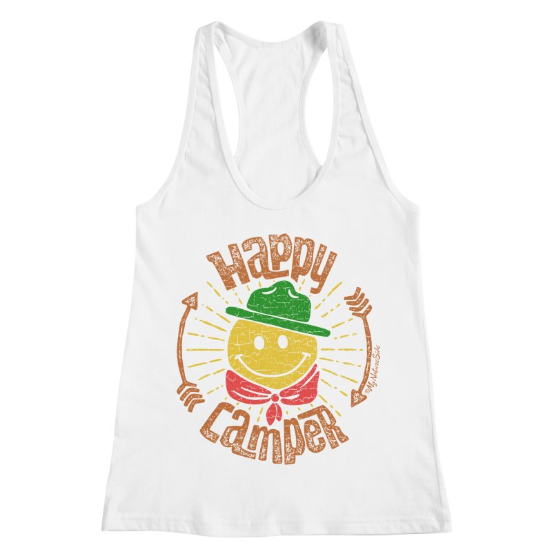 Happy Camper Women's Racerback Tank by My Nature Side