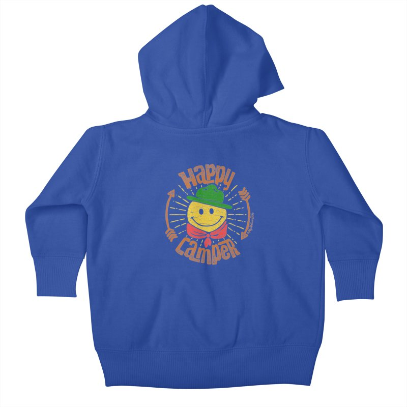 Happy Camper Kids Baby Zip-Up Hoody by My Nature Side