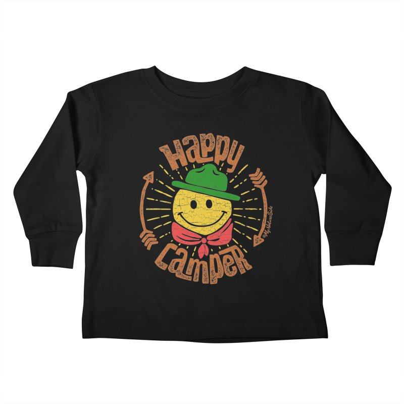 Happy Camper Kids Toddler Longsleeve T-Shirt by My Nature Side