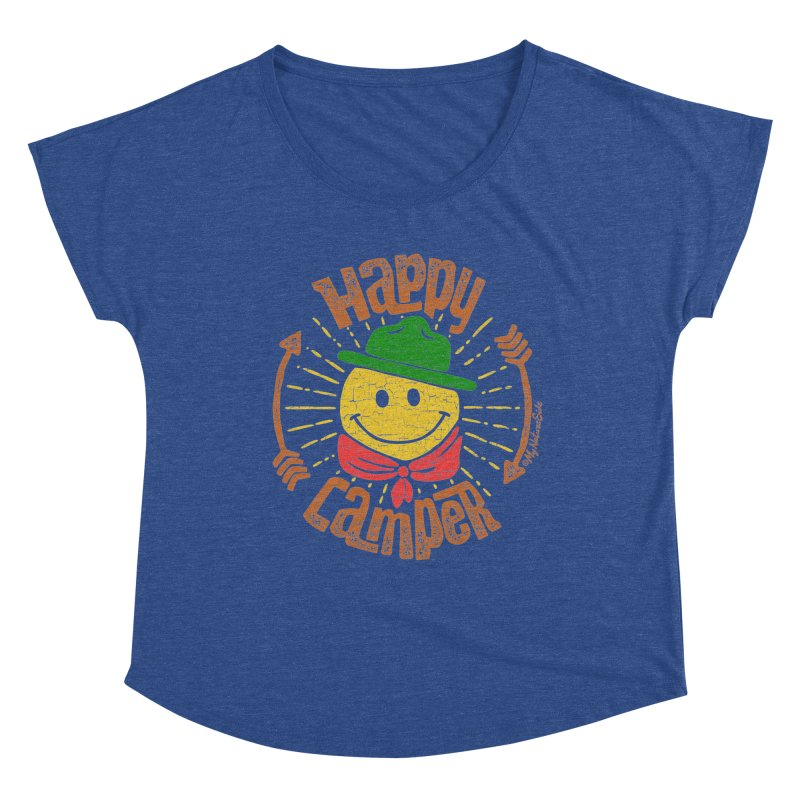 Happy Camper Women's Scoop Neck by My Nature Side