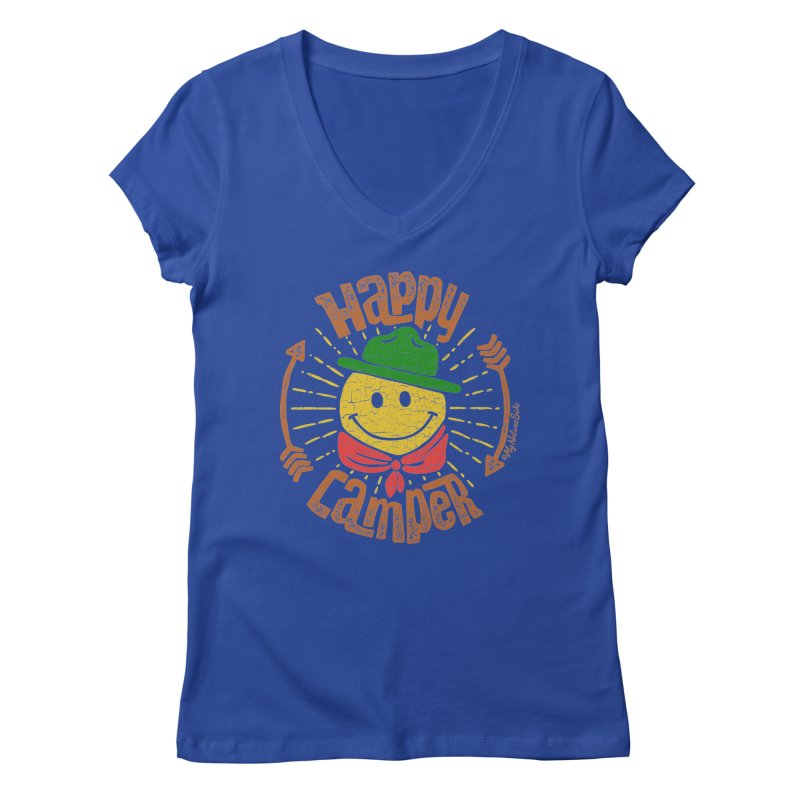 Happy Camper Women's V-Neck by My Nature Side