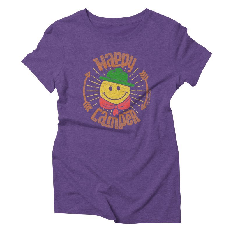 Happy Camper Women's Triblend T-Shirt by My Nature Side