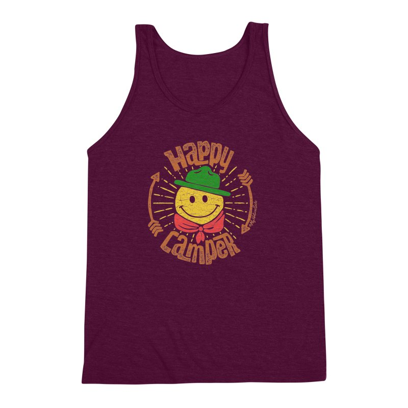 Happy Camper Men's Triblend Tank by My Nature Side