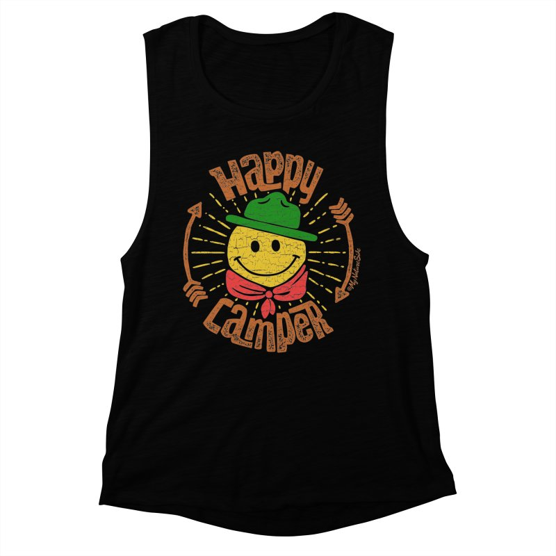 Happy Camper Women's Muscle Tank by My Nature Side
