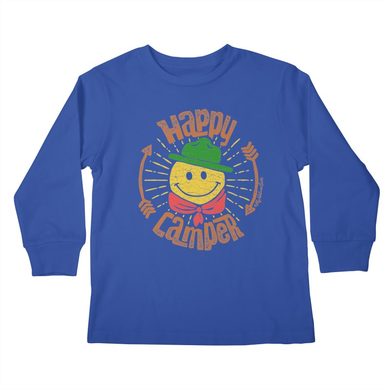 Happy Camper Kids Longsleeve T-Shirt by My Nature Side