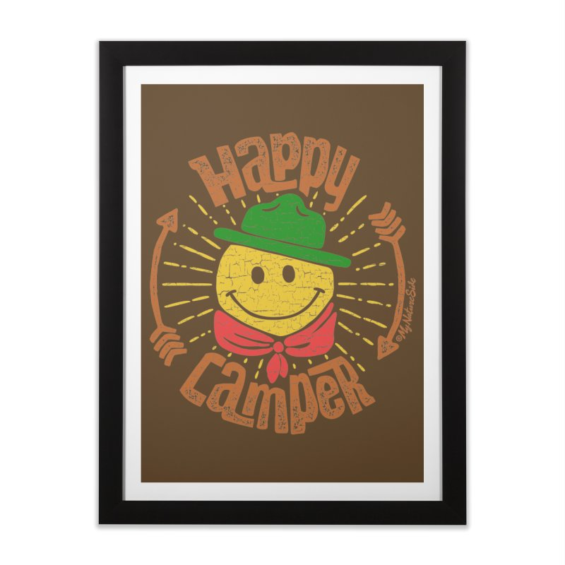 Happy Camper Home Framed Fine Art Print by My Nature Side