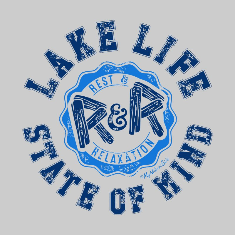 Lake Life State of Mind Kids Longsleeve T-Shirt by My Nature Side