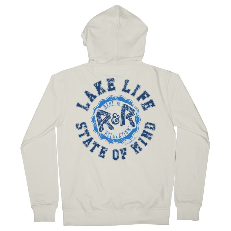 Lake Life State of Mind Men's Zip-Up Hoody by My Nature Side