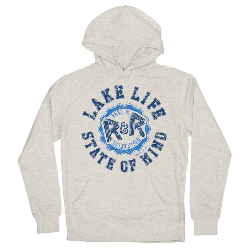 Lake Life State of Mind Men's French Terry Pullover Hoody by My Nature Side