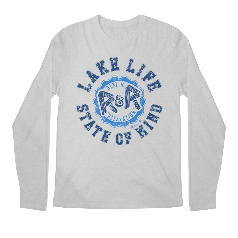 Lake Life State of Mind Men's Regular Longsleeve T-Shirt by My Nature Side