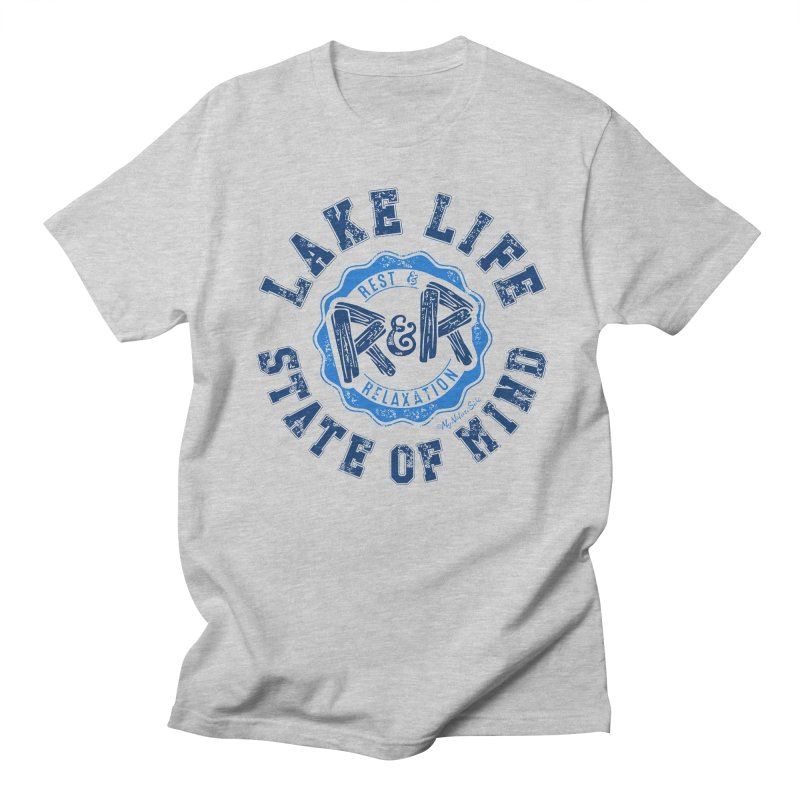 Lake Life State of Mind Men's Regular T-Shirt by My Nature Side