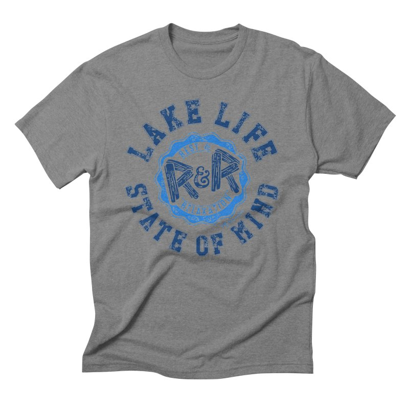 Lake Life State of Mind Men's Triblend T-Shirt by My Nature Side