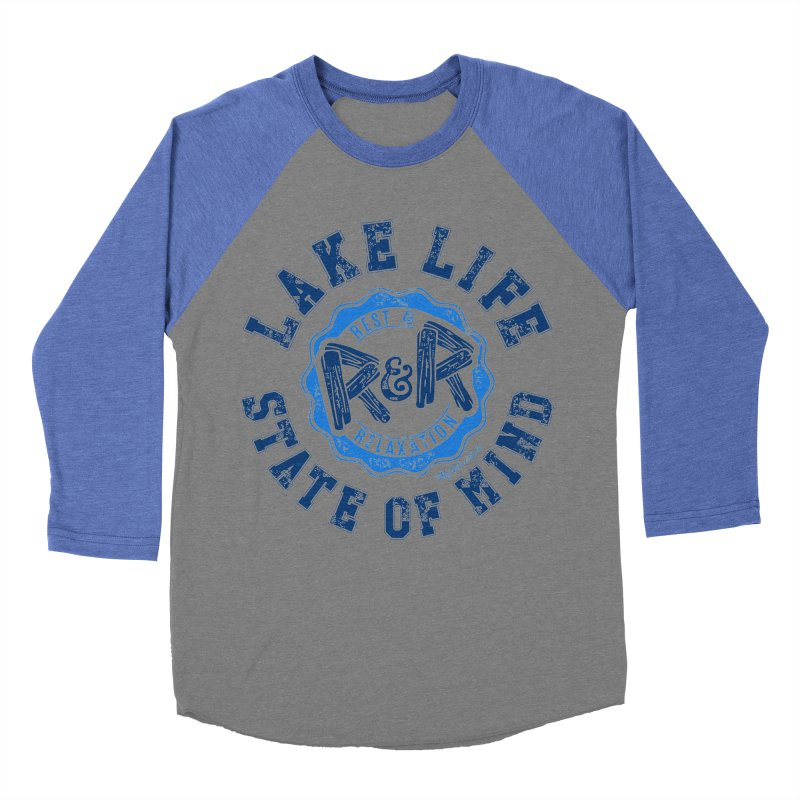 Lake Life State of Mind Women's Baseball Triblend Longsleeve T-Shirt by My Nature Side
