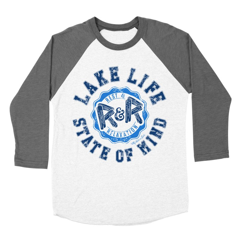 Lake Life State of Mind Men's Baseball Triblend Longsleeve T-Shirt by My Nature Side