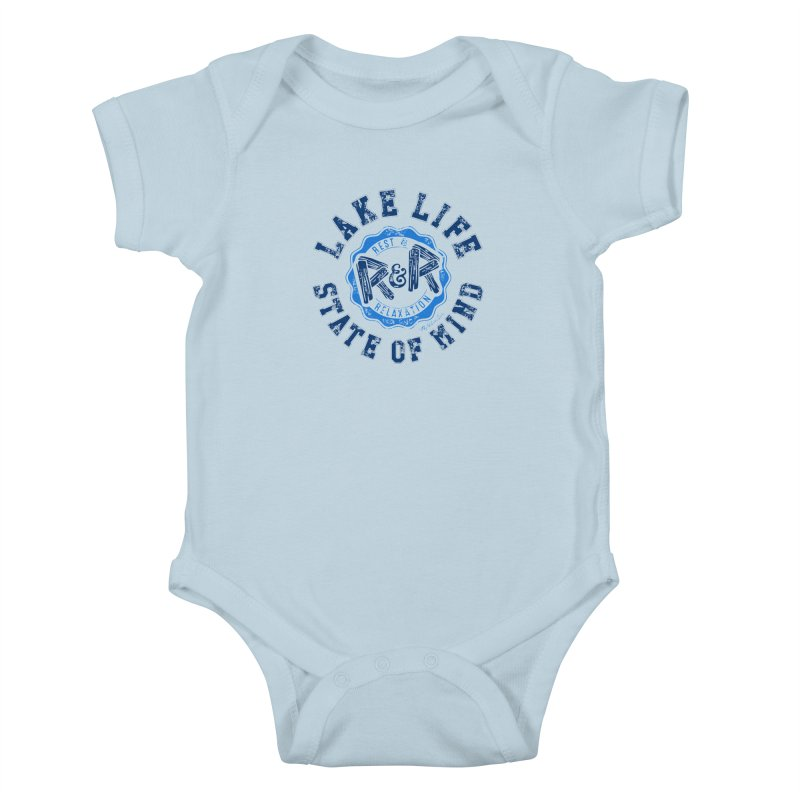 Lake Life State of Mind Kids Baby Bodysuit by My Nature Side