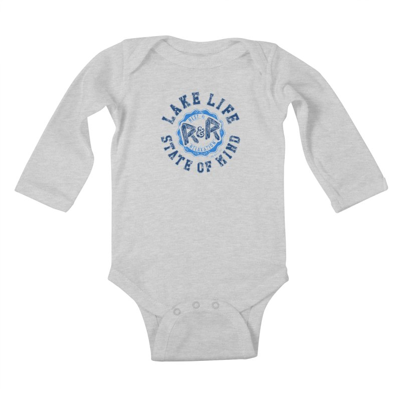 Lake Life State of Mind Kids Baby Longsleeve Bodysuit by My Nature Side