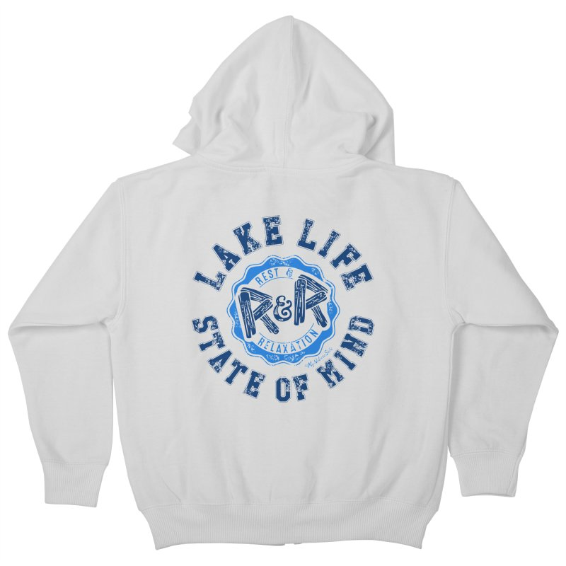 Lake Life State of Mind Kids Zip-Up Hoody by My Nature Side